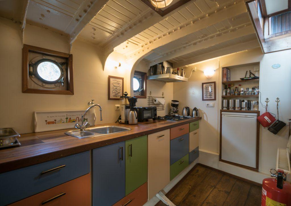 Bootappartement, keuken