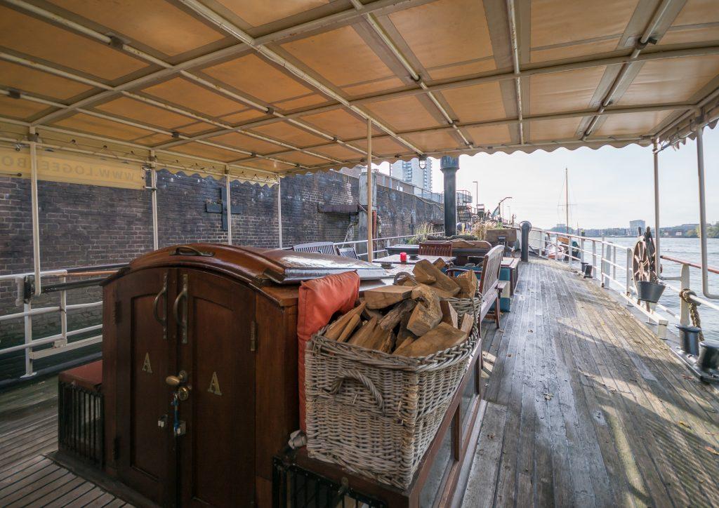 Boatapartment, deck terrace